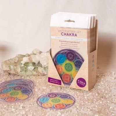"Untersetzer Set ""Chakra"" d95mm inkl. gratis Display"