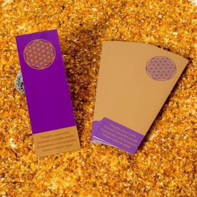 Lesezeichen Blume des Lebens Gold/Violett 25 Stück