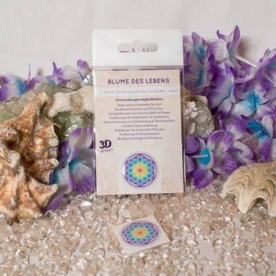3D Doming Aufkleber Blume des Lebens Chakra d30mm