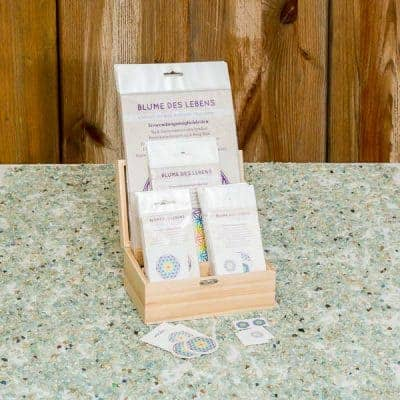 Holzbox Set Blume des Lebens transparent / weiß