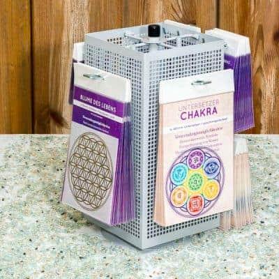 Thekenständer CHAKRA vollbestückt, 170 Produkte