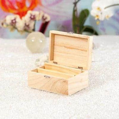 Große Holz-Präsentationsbox für Aufkleber