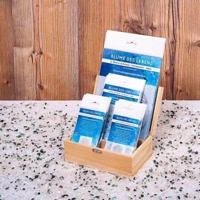 Holzbox Set Blume des Lebens transparent / silber
