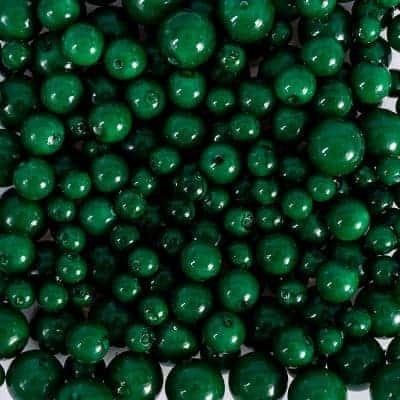 Ohrringe Muschelkernperle Grün