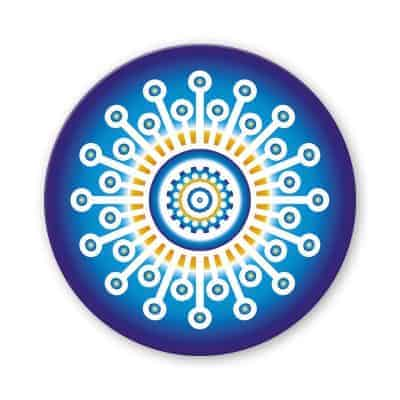 Untersetzer Set Mandala invert blau d95mm 4Stück / Packung