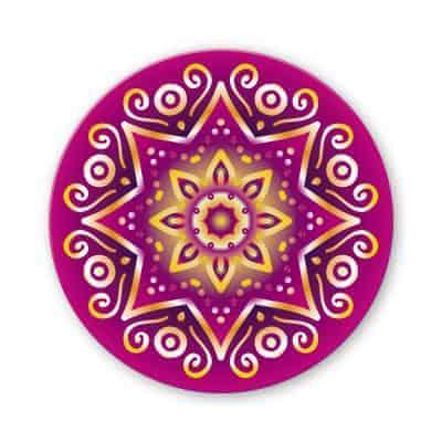 Untersetzer Set Mandala invert magenta d95mm 4Stück / Packung