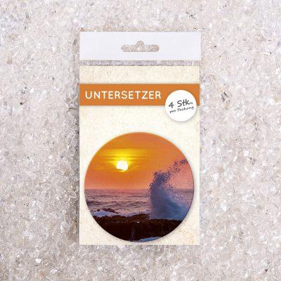 Untersetzer Set Foto Brandung/Meer d95mm 4Stück / Packung